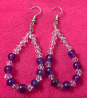 Amethyst & Crystal Loop Earrings
