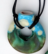 New Aroma Necklace, Calm Strong Heart, handcrafted by Elena Trexler