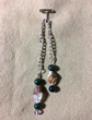Chilean Quartz Pendulum with Green Bloodstone & Amethyst Trim