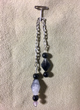 Chilean Quartz Pendulum with Black Onyx & Amethyst Trim
