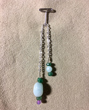 Malachite Pendulum with Amazonite & Amethyst Trim
