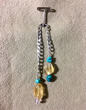 Citrine Pendulum with Turquoise & Amethyst Trim