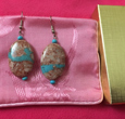 RiverRock Turquoise Natural Stone Earrings, Kingman Arizona