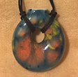 Aroma Necklace, Rosie Turquoise Donut handcrafted by Elena Trexler