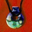 Aroma Necklace, Sky Blue, handcrafted by Elena Trexler